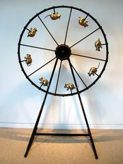 Gerb-i-whirl -kinetic wheel sculpture