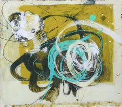 """""""Beetles Prosody"""" Abstract, Mixed Media, by Melissa Zarem, Framed, Ready to Hang"""