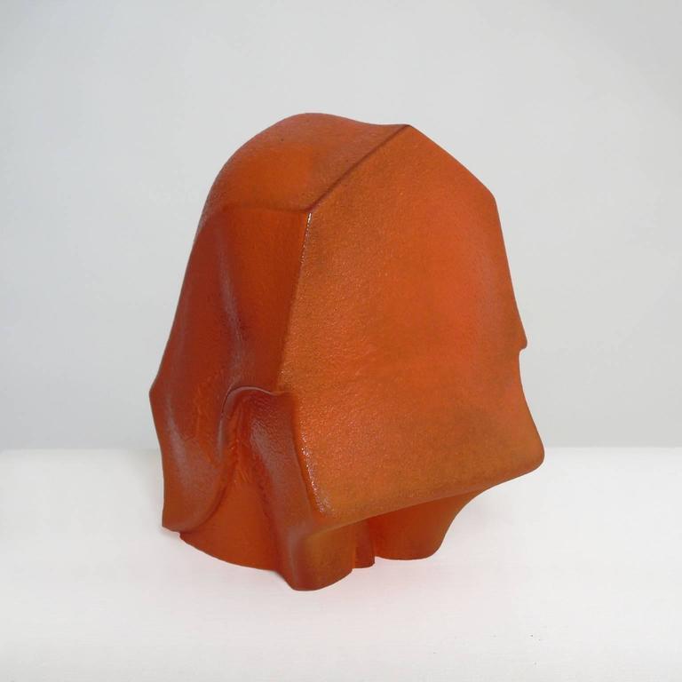 Swayback Barn -orange glass  For Sale 1