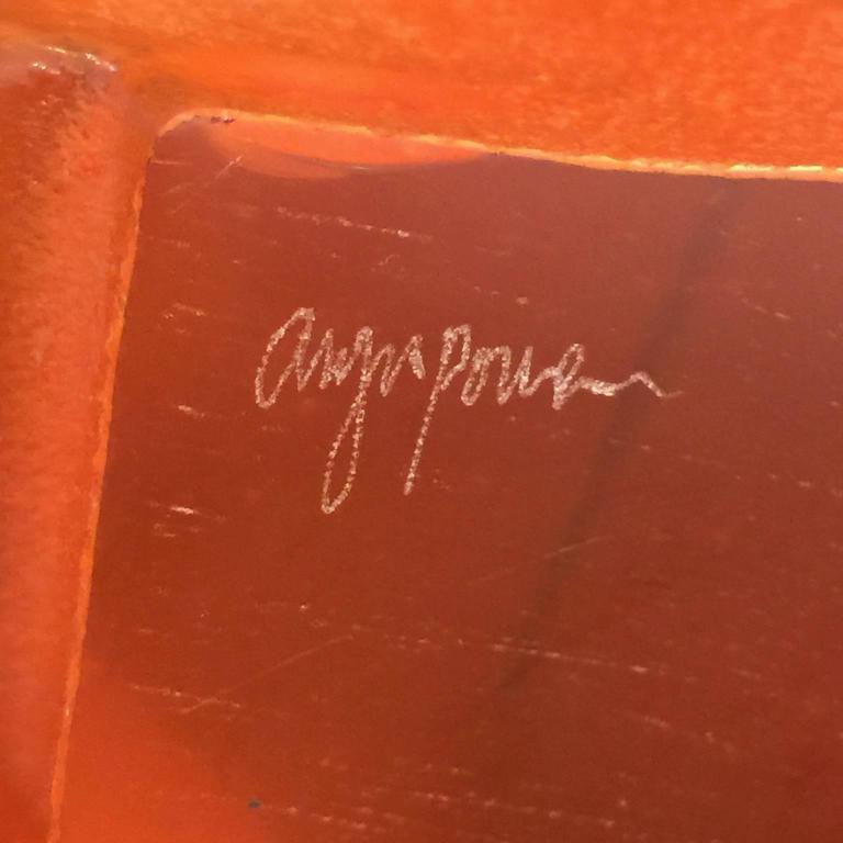 Swayback Barn -orange glass  For Sale 4