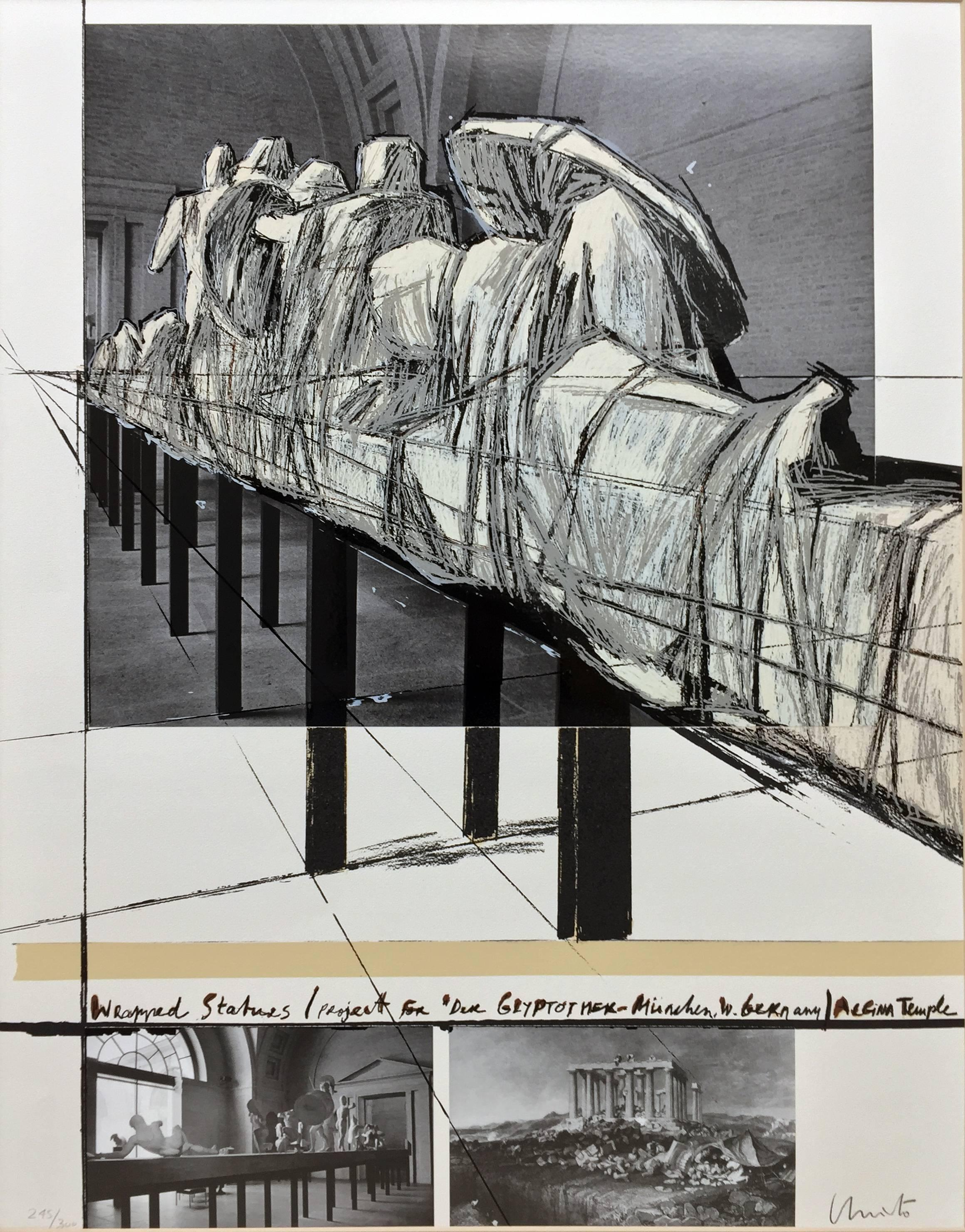 Wrapped Statues (Project for Der Glyptotek in Munich Aegean Temple)