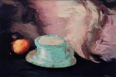 Cup and Saucer with Peach