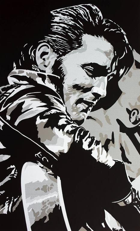 Toni Sanchez Figurative Painting - Comeback Elvis