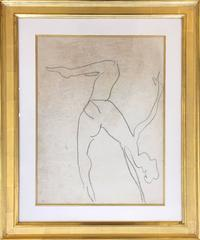 Drawing for planche 419/10 of Danseuse Acrobates