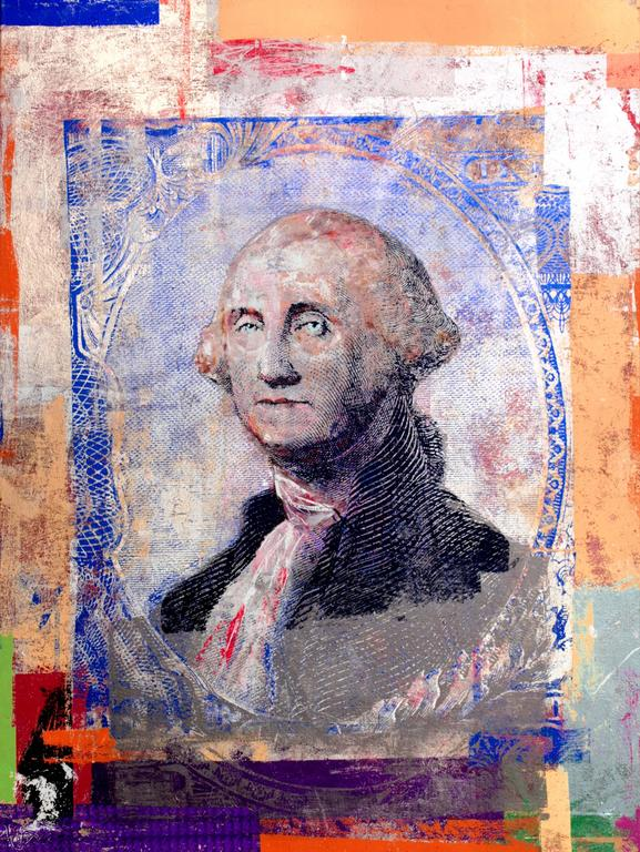 RT Houben Figurative Painting - $1 George Washington