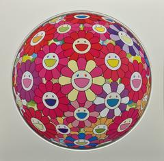 Flower Ball (3D) Blue, Red