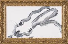 White Horizontal Bunny
