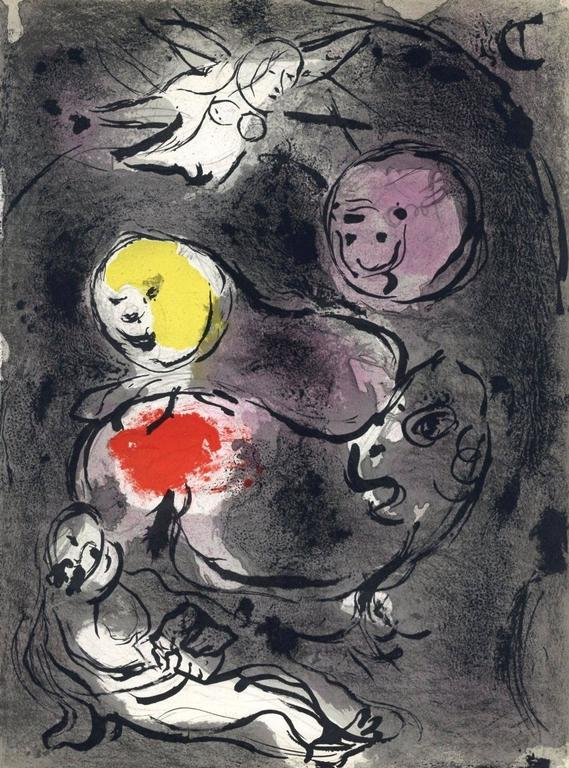 Daniel in the Lion's Den - Print by Marc Chagall