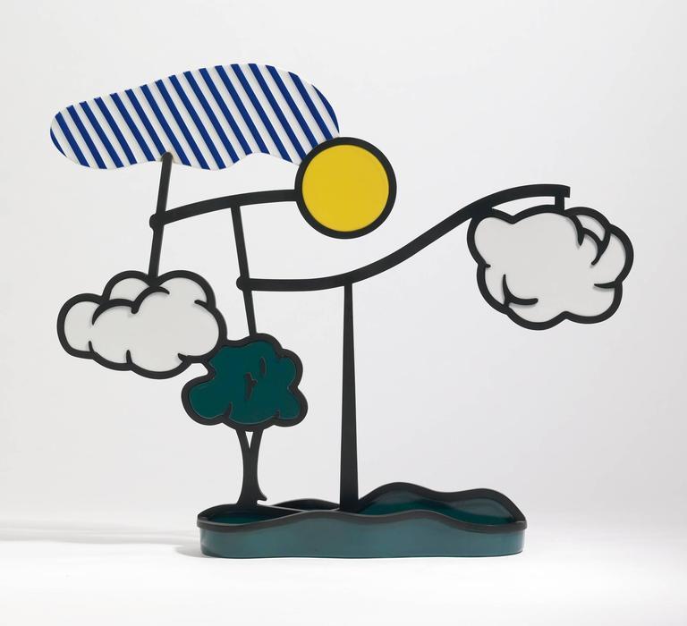 Roy Lichtenstein Landscape Mobile Limoges Porcelain Sculpture For Sale At 1stdibs