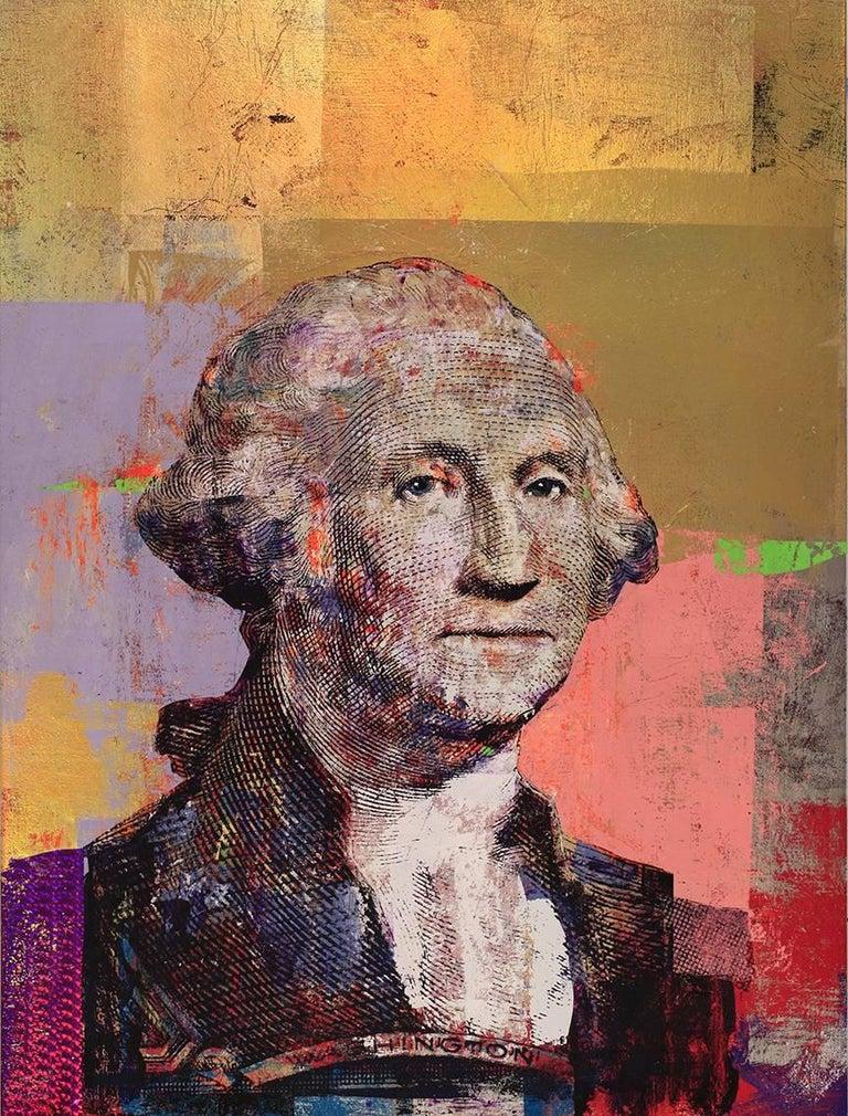 RT Houben Figurative Painting - $1 George Washington