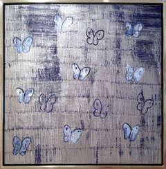 Silver Sapphire Butterflies