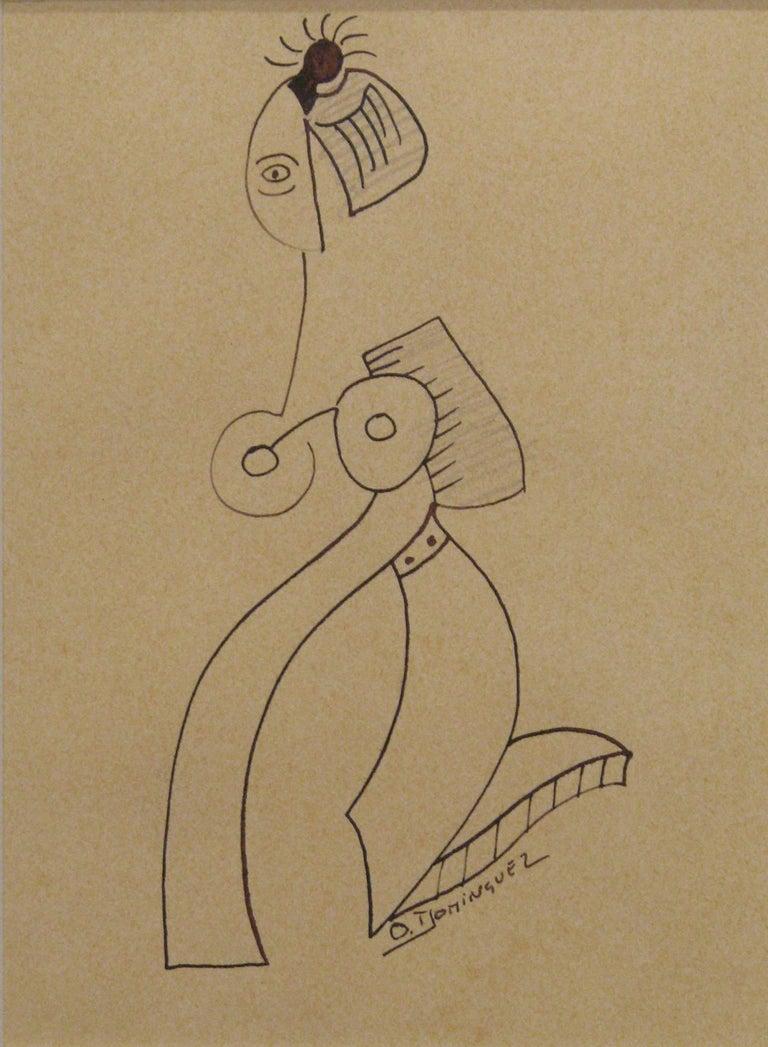 Oscar Dominguez Figurative Art - Untitled I