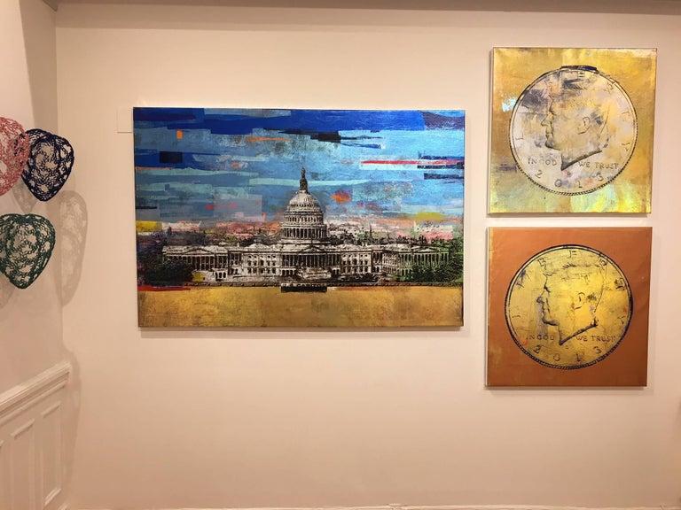 Half Dollar JFK (II) - Contemporary Painting by RT Houben