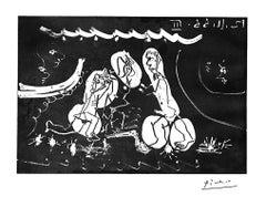 Sous les Feux de la Rampe: Femme Nue Entre Deux Hommes, from 12 Novembre 1966 II