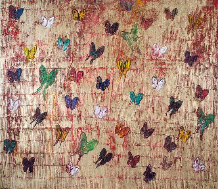 Hunt Slonem Animal Painting - Untitled (Butterflies)