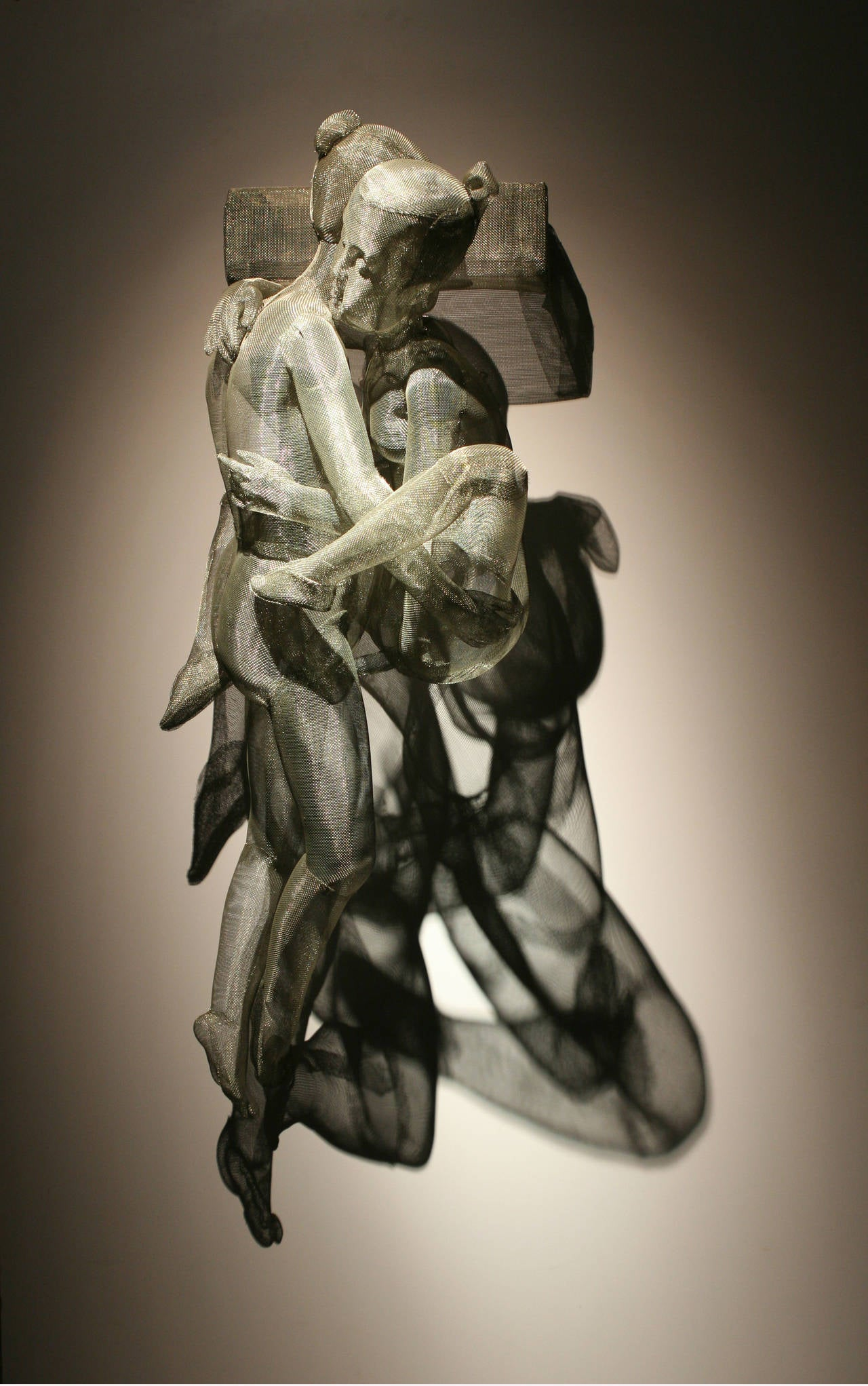 Sculpture - Intimacy (stainless steel mesh)