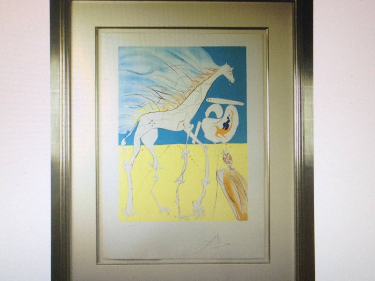 Salvador Dalí - Conquest for Cosmos II: Saturnian Giraffe, Print For ...