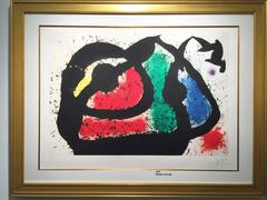 Joan Miró - Miro original color etching and aquatint on Arches paper, signed