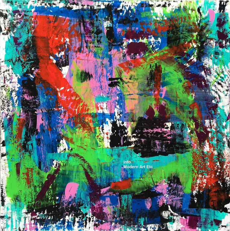 Victor Garcia Abstract Painting - Large Abstract painting