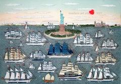 Etching - New York New York Sails 1986