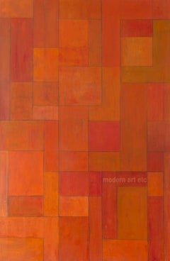 Large abstract painting - Orange Zone - architectural, color