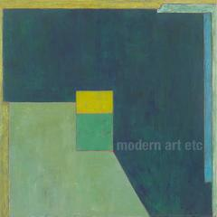 Large abstract oil painting - Beauty of Balance - architectural color field oil