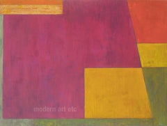 Large horizontal abstract oil painting - Stepping up to Paradise -architectural