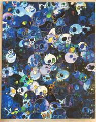 Takashi Murakami - Blue Skulls offset print