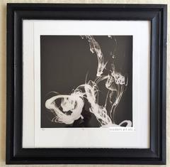 Abstract art photography in black and white - framed in custom made wood frame