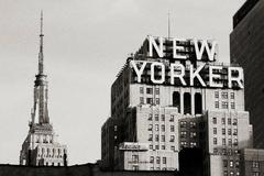 New York City - New Yorker - large black and white photo of New York City