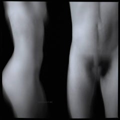 "Nudes - ""Woman and Man"" - abstract figurative in silver gelatin & archival print"