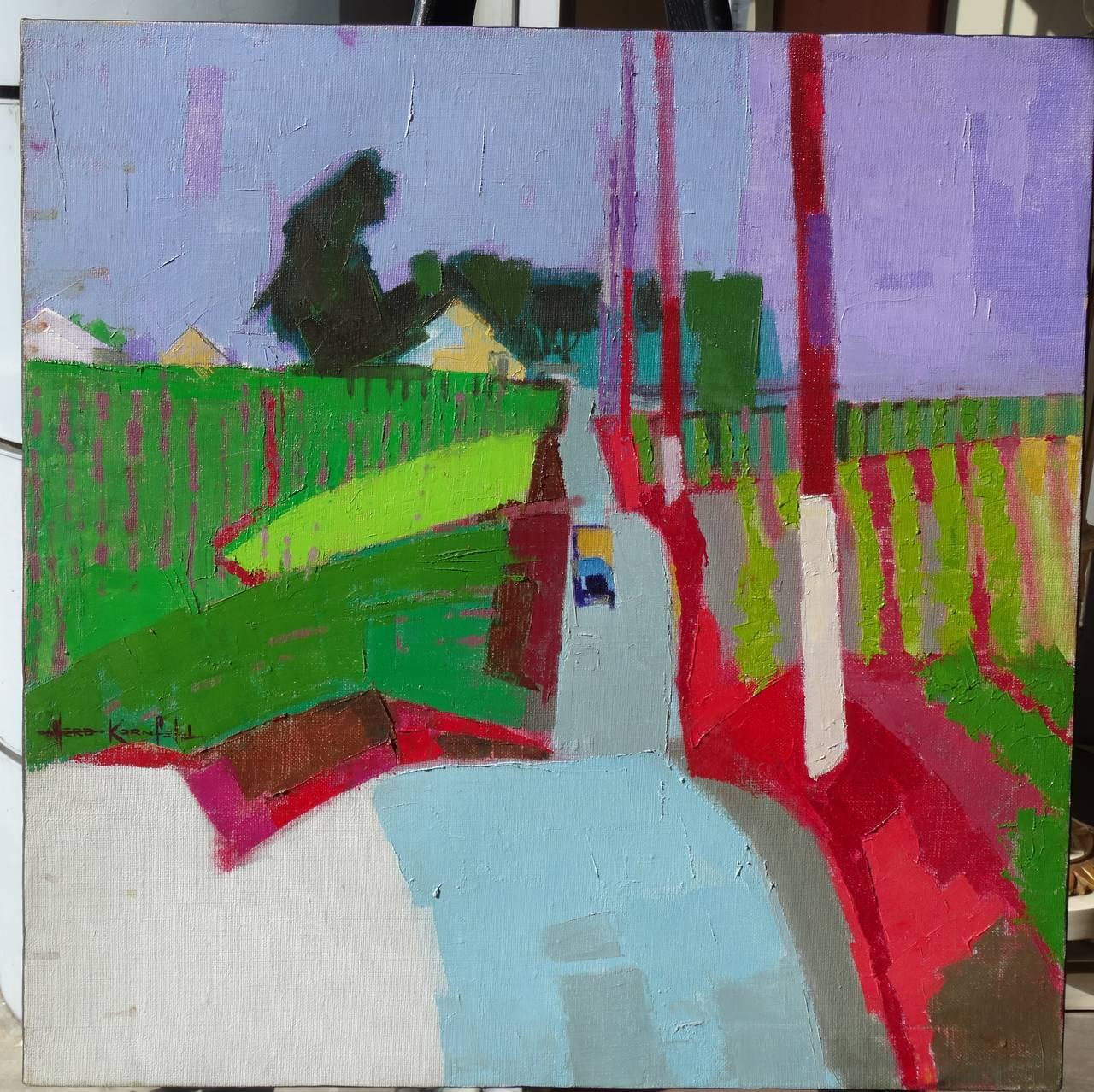 Oil Painting -  California farm landscape (modern art etc)