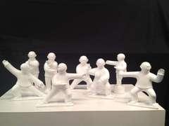 Sculpture - Tai Ji  (Tai Chi) - small fibre glass sculptures - set of 8