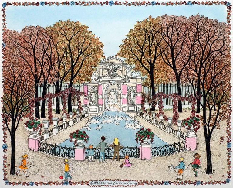 Cuca romley etching jardin francais iv les tuileries for Jardin francais
