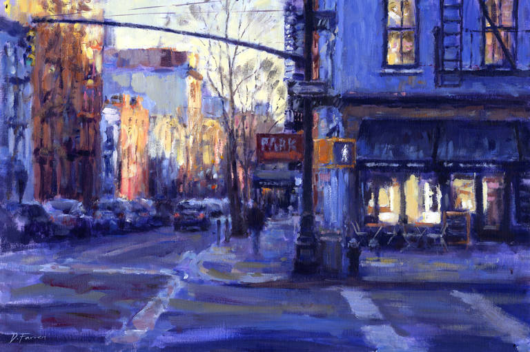 David Farren Painting Corner Cafe Greenwich Village New York City At 1stdibs