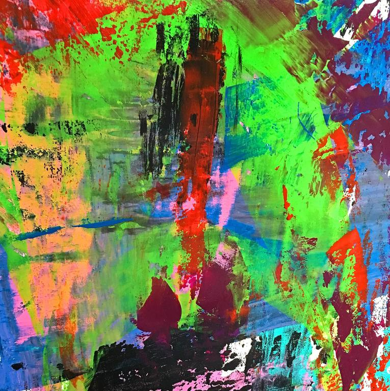 Large Abstract painting - Painting by Victor Garcia
