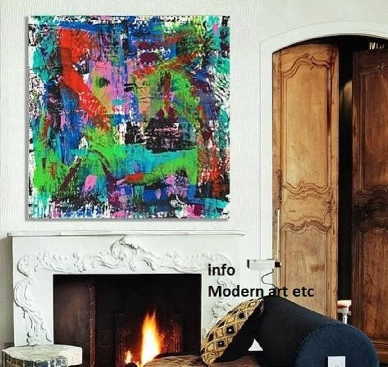 Modern Art Etc exclusively presents this new series of paintings, created - not painted - in vivid dynamic colors and textures using found objects, not paintbrushes, reflecting both an inward reflection and an expression of the dynamism of life's