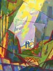 Oil Painting - The Lovers - contemporary abstract painting