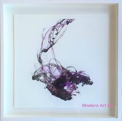 Abstract art photography - Fluidity in Color Series - Purple Reign -sold framed