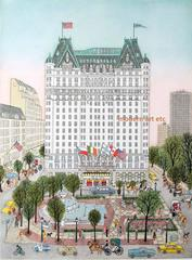 Etching - Plaza Hotel, New York (Day) / VIEW ALL New York Series