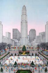 Hand Colored Etching - Rockefeller Center, New York (Edn of 175)