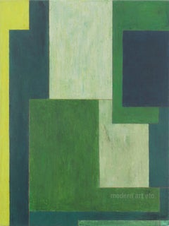 Large abstract oil paintings - Green - architectural, color field, oil