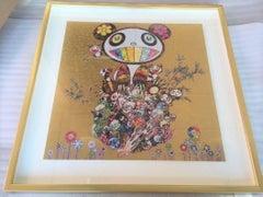 Murakami limited edition offset print - Panda Gold - sold framed . unframed