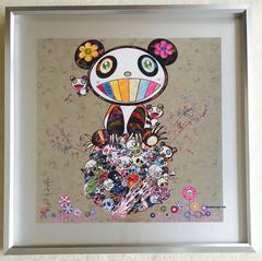 Murakami offset print - Silver Panda - framed or unframed boxed