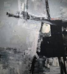 "Large Monochromatic Oil on Linen - Trestle 58 x 52"""