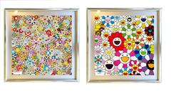 Flowers Blooming in this World and the Land of Nirvana 5&1 - Pair, Framing inc.