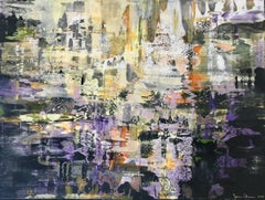 Contemporary abstract painting - Purple