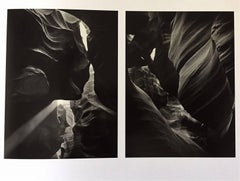 American landscapes - Land Art - pair of Antelope Canyon photographs