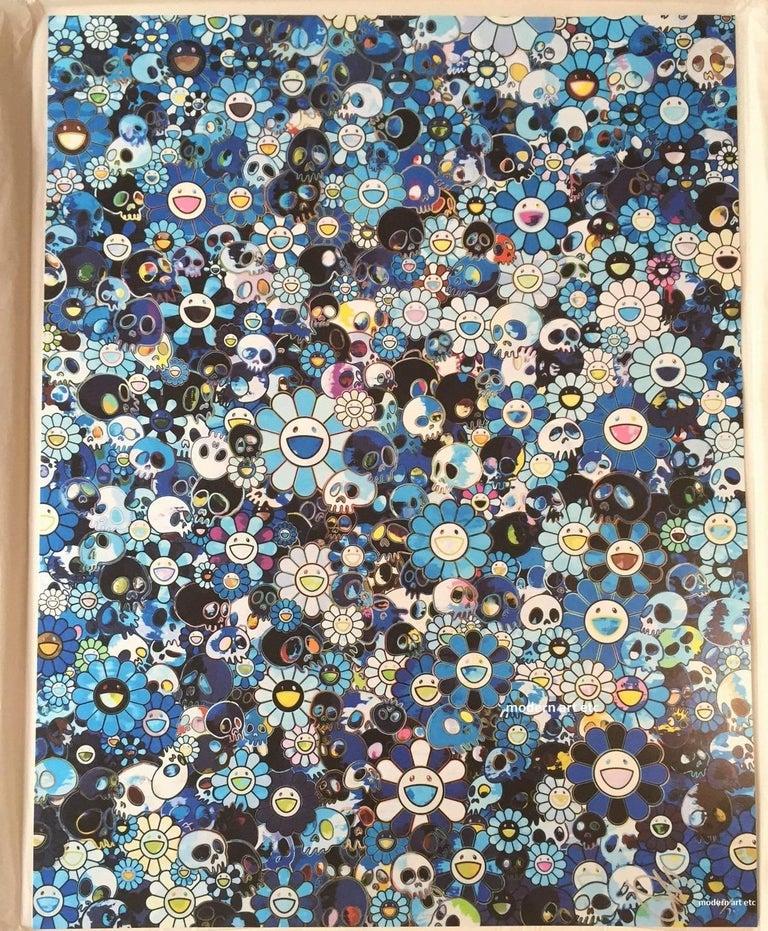 Murakami offset print - Dokuro Silver - only 1 left, free custom framing For Sale 2