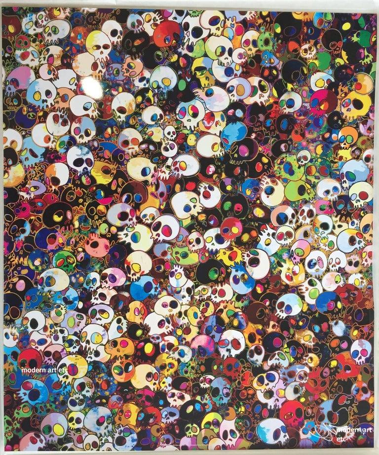 Murakami offset print - Dokuro Silver - only 1 left, free custom framing For Sale 3